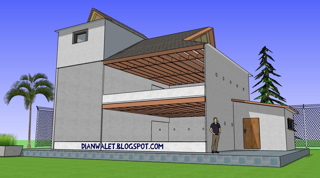Desain Gedung Walet RBW 6x8 2 Tingkat Full Video  DIAN