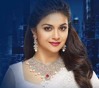 Keerthy Suresh in White Saree with Cute Smile for AVR Jewellers Ad Shoot Images