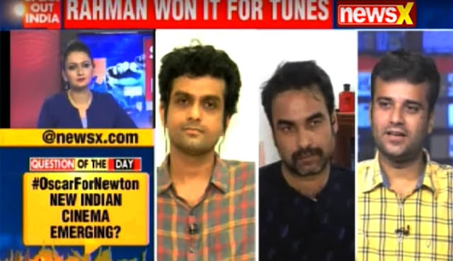 Film Critic Murtaza Ali Khan participating in a Live Panel Discussion on NewsX regarding Newton's prospects at 2018 Oscars