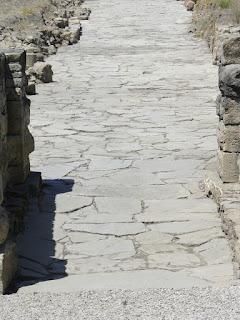 Calzada romana en Baelo Claudia