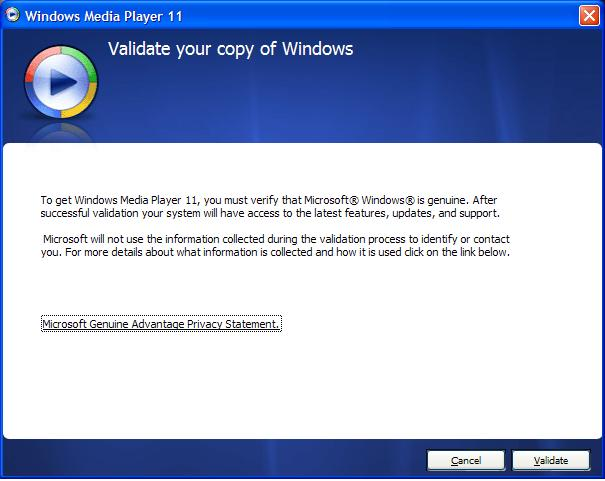 windows media player 11 convalidare gratis
