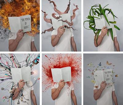 membaca buku dengan berbagai imajinasi