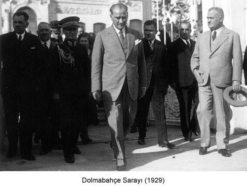 Atatürk Dolmabahçe Sarayı 1929 Fotoğraf