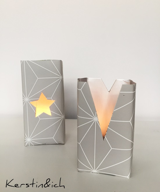 DIY Teelicht aus Milchtüten