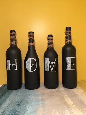 klusidee schoolbordverf wijnfles