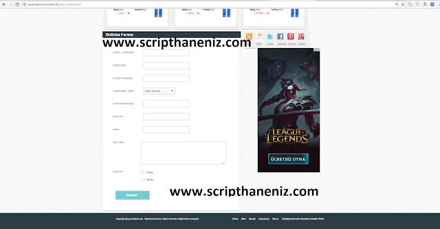 Döviz Scripti İletişim Sayfası