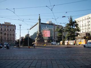 The Piazza Cinque Giornate