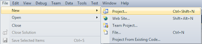 new project visual studio 2010