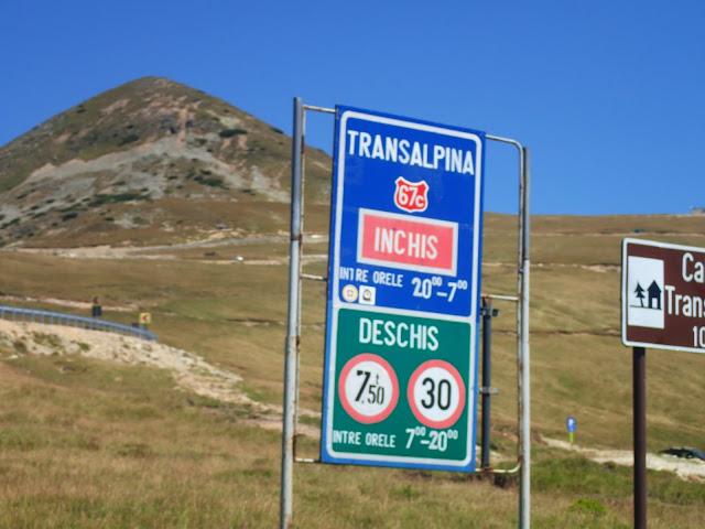 Transalpina jest zamknięta w nocy - pomiędzy 20 a 7