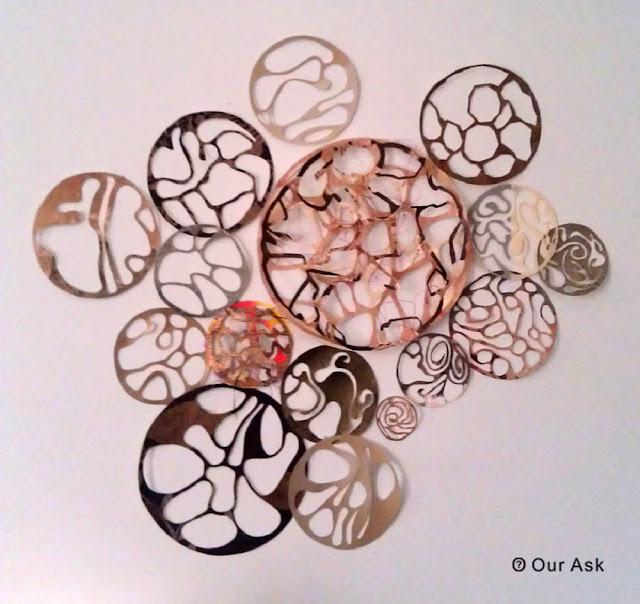 Metal Scrolling Circle Wall Art