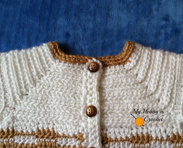 """Heartbeat""  Baby Sweater - Free Crochet Pattern with Tutorial"