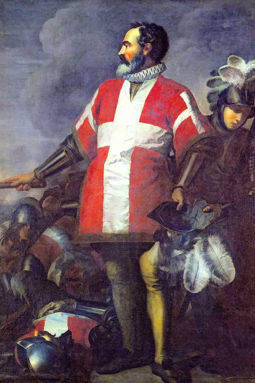 Jean Parisot de La Valette, Grão Mestre da Ordem de Malta durante o Grande Cerco turco. Antoine de Favray (1706 – 1798).