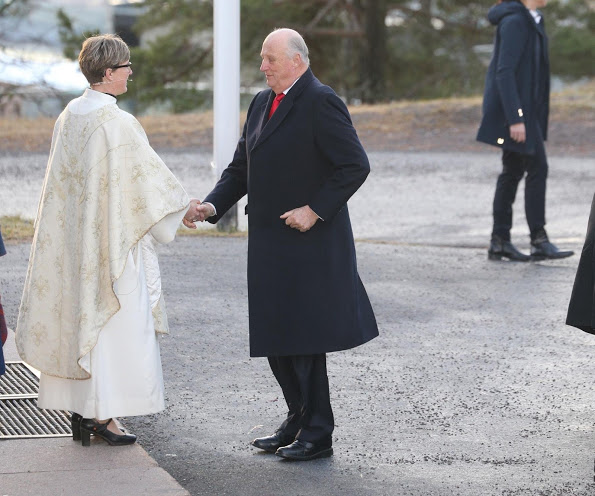 Norwegian Royal Family Attended Christmas Service At Oslo Holmenkollen Chapel