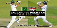 Watch Pakistan Vs England Series