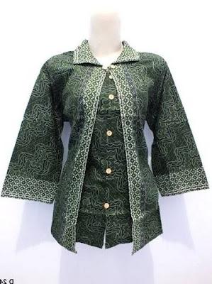 model baju batik kerja guru yang menarik
