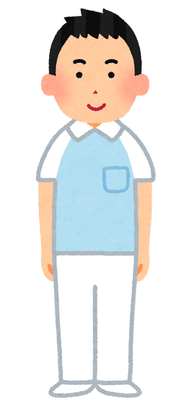介護士のイラスト(男性) | かわいいフリー素材集 いらすとや