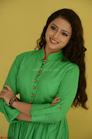 Geethanjali in Green Dress at Mixture Potlam Movie Pressmeet March 2017 015.JPG