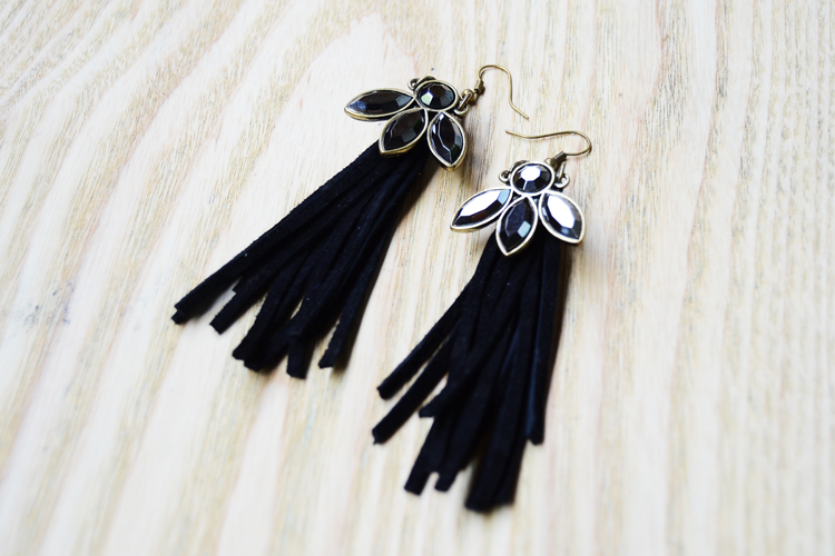 fringe earrings diy