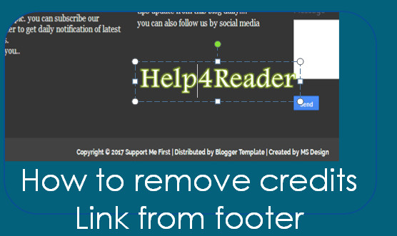 remove credit link from blog