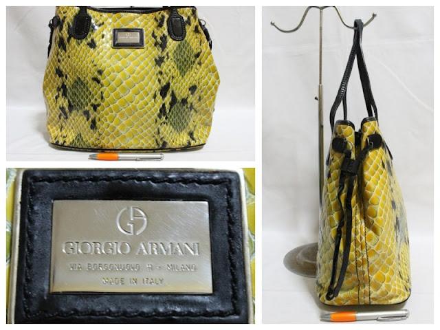 Jual tas tas second bekas branded original murah dari Singapore Original  Authentic dengan harga yang kompetitif. GIORGIO ARMANI 266d941e57