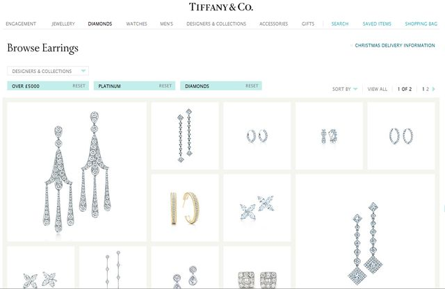 Fashion Tiffany Diamond Earrings