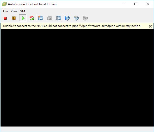 Solusi masalah unable to connect to MKS:Could not connect to pipe \\.\pipe\vmware-authdpipe the system cannot find the file specified.