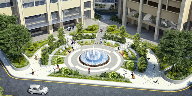 Không gian xanh tại dự án chung cư The Garden hill