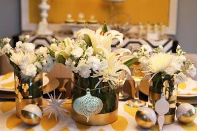 deco table noel fleur