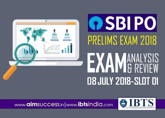 SBI PO Prelims Exam Analysis 8th July 2018: 01st Slot