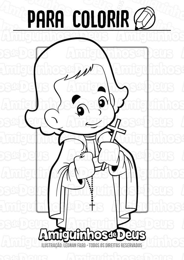 São Luís Maria Grignion de Montfort desenho para colorir