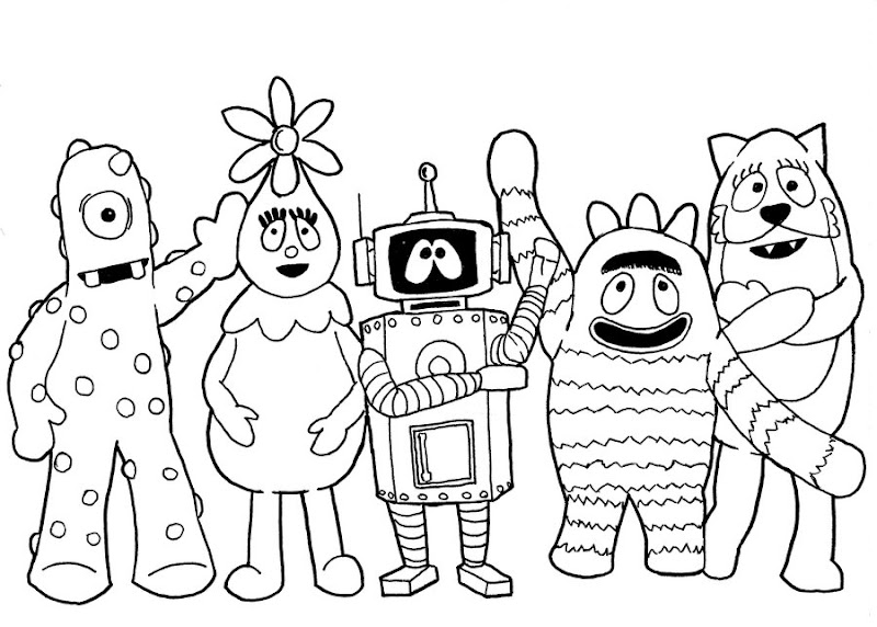 Yo Gabba Gabba Coloring Pages | printable coloring for kids ...