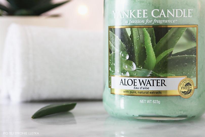etykieta świecy yankee candle aloe water