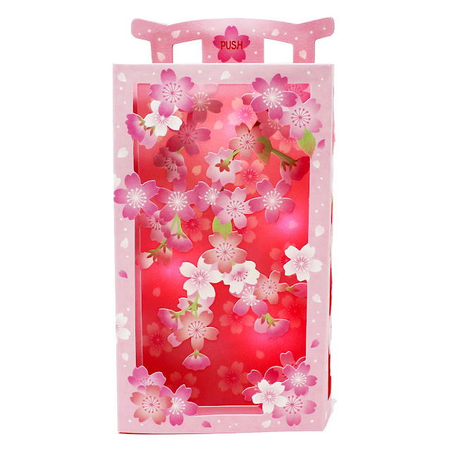 Cherry Blossom Multipurpose Pop Up Lights and Melody Greeting Card