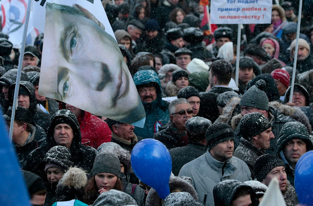 A rally celebrating the second anniversary of Russia's annexation of Crimea, March 18, 2016.