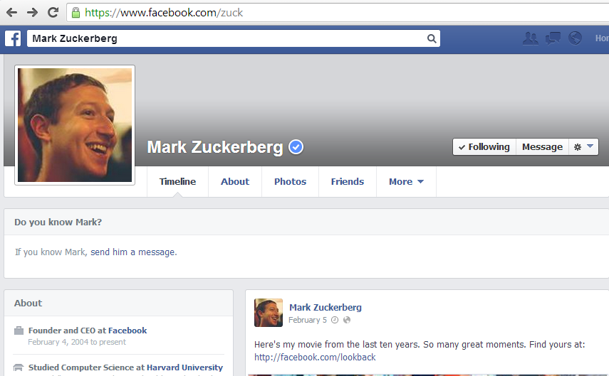 mark zuckerberg hacké