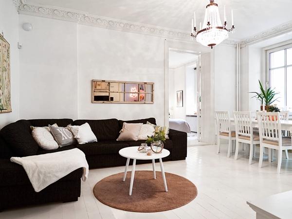 decorar casa sofá preto