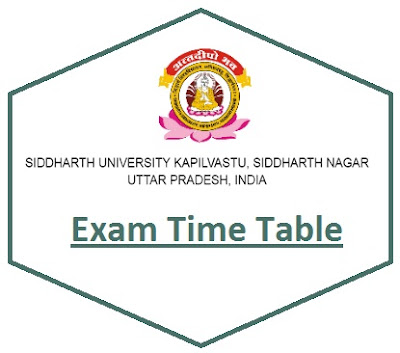 Siddharth University Exam Schedule 2019