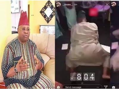 Davido's Uncle, Senator Ademola Adeleke Twerks In New Video