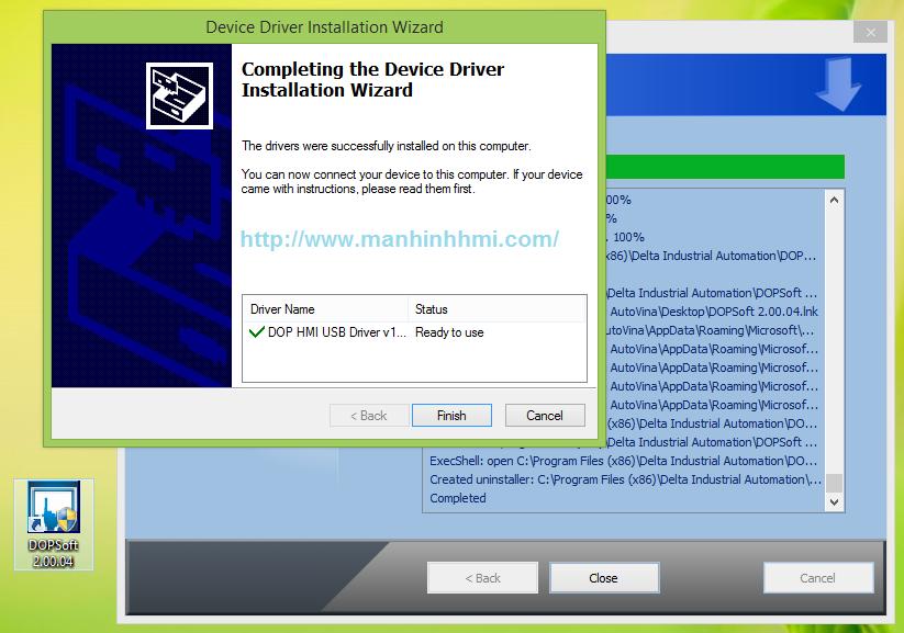 Cài đặt xong phần mềm DOPSoft cho HMI Delta DOP-B Series