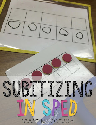 Subitizing in the Special Education classroom doesn't have to be difficult. Quickly turn this highly expressive task into a receptive task and watch your students gain number fluency!