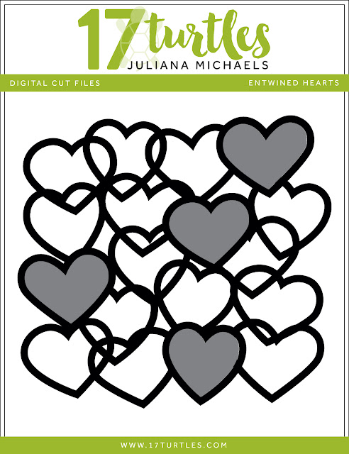 Entwined Hearts Free Digital Cut File by Juliana Michaels 17turtles.com