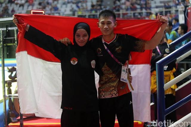 Kisah Iqbal dan Sarah, Suami Istri Sama-sama Peraih Emas Pencak Silat Asian Games