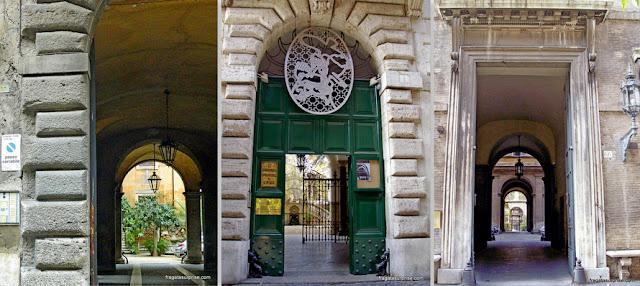 Fachadas renascentistas na Via Giulia, em Roma