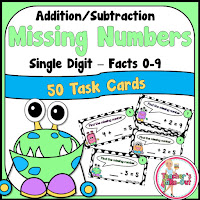 Missing Numbers using Simple Addition Facts