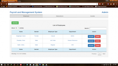 Payroll Management and Information System (PHP)