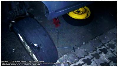 gambar cara tukar tayar kereta