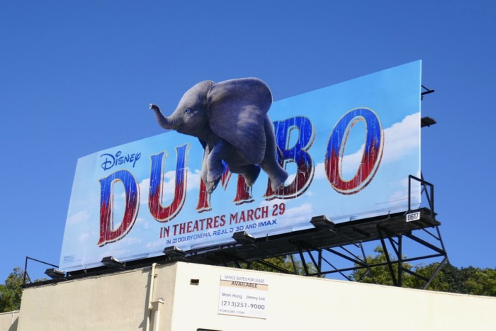 Dumbo extension cut-out billboard