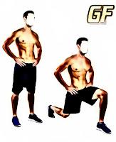 Cara membentuk otot kaki lunges