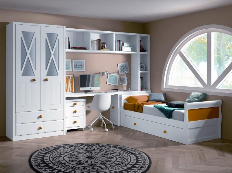 Habitaciones juveniles - Habitaciones juveniles blancas ...