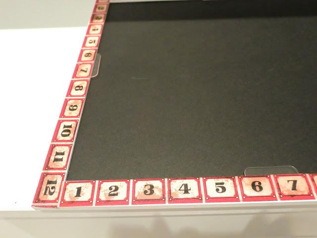 Primer plano más detallado del washi tape decorativo que nos sirve como guía de medida.